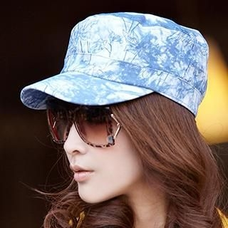 siggi - Tie-Dyed Denim Military Cap