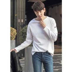 GERIO - Round-Neck Long-Sleeve T-Shirt