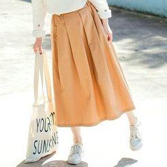 Forest Girl - Pleated Midi Skirt
