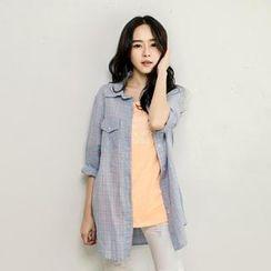 Tokyo Fashion - Plaid Long Shirt
