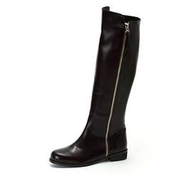 MODELSIS - Zip-Detail Knee Boots
