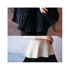LEELIN - Ribbed A-Line Mini Skirt