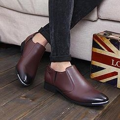 Preppy Boys - Faux-Leather Pointy-Toe Dress Shoes
