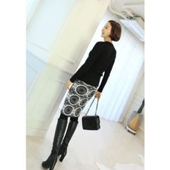 Lemite - Patterned Knit Skirt