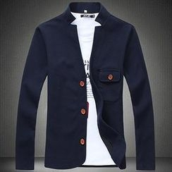 Mystory - Mandarin Collar Button Jacket