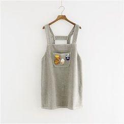 Storyland - Applique Corduroy Suspender Dress