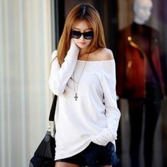 Koo - Round-Neck Long-Sleeve Terry Top