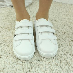 Dodostyle - Star-Appliqué Velcro Sneakers