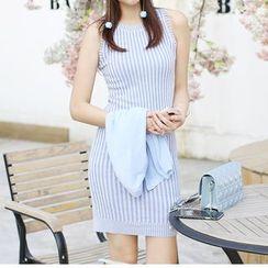 SimplyMe - 無袖針織塑身連衣裙