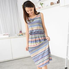59 Seconds - Striped Maxi Tank Dress