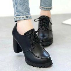 YIVIS - Block Heel Oxfords