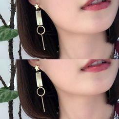 Calypso - Star Non-Matching Drop Earrings