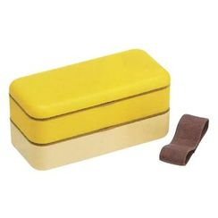 Skater - Earth Color Simple Lunch Box (Yellow)