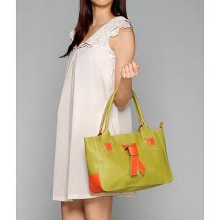 59 Seconds - Knot-Detail Faux Leather Tote