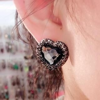 Supermary - Crystal Heart Earrings