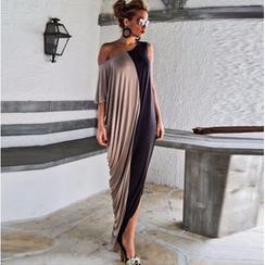 HOTCAKE - 中袖单肩连身长裙