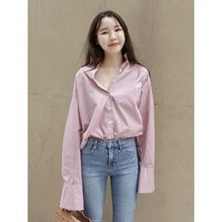 maybe-baby - Loose-Fit Cotton Shirt