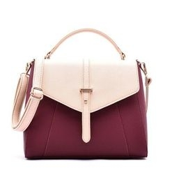Secret Garden - Color-Block Convertible Shoulder Bag