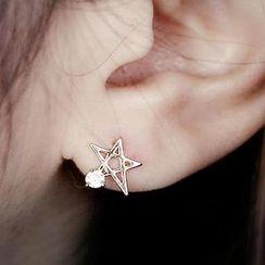Gossip Girl - Rhinestone Star Stud Earrings