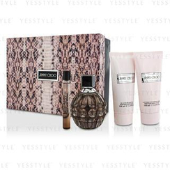Jimmy Choo - Jimmy Choo Coffret: EDP Spray 100ml/3.4oz + Body Lotion 100ml/3.3oz + Shower Gel 100ml/3.3oz + EDP Roll On 10ml/0.33oz