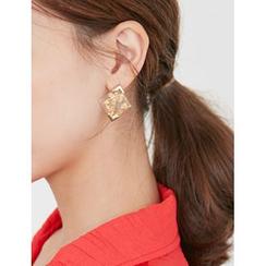FROMBEGINNING - Square-Shape Earrings