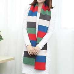 Rita Zita - Colour Block Knit Scarf