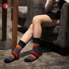 Socka - Snowflake-Print Wool Socks