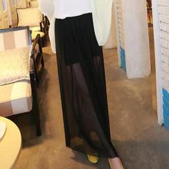 Munhome - Mesh Long Skirt
