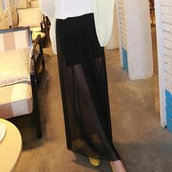 Munhome - Mesh Long Skirt