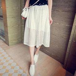 MoyiBaby - Lace Midi Skirt