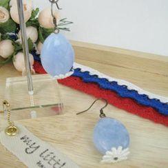 MyLittleThing - Elegant Lace Bead Earrings(blue)
