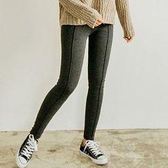 Seoul Fashion - Coral-Fleece Lined Leggings Pants