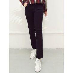 LOLOten - Brushed-Fleece Lined Straight-Cut Pants