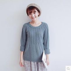 Forest Girl - Cable Knit Sweater