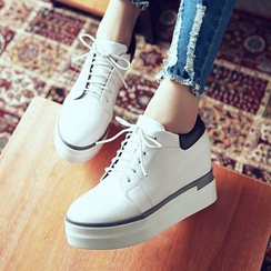 錦洋鞋業 - 厚底內增高牛津鞋