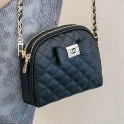 Axixi - Bow-Accent Quilted Cross Bag