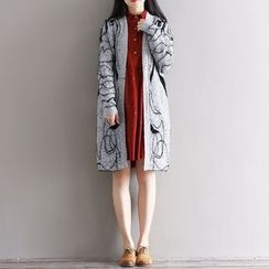 Epoch - Patterned Long Cardigan