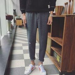qiaqiayes - 刺绣运动裤