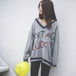 Polaris - Lettering Long Sweater