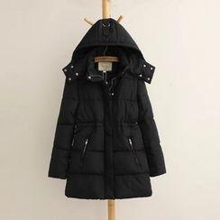 Aigan - Hooded Padded Zip Coat