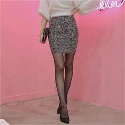 TOM & RABBIT - Sequined Mini Pencil Skirt