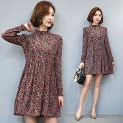 EFO - Long-Sleeve Printed Dress