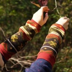 iswas - Patterned Arm Warmers