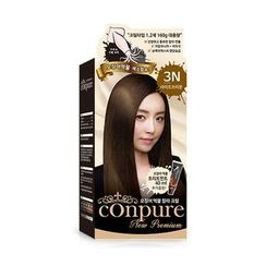esfolio - Conpure Squid Ink Color Cream (#3N Light Brown): Hairdye 80g + Oxidizing Agent 80g + Hair Treatment 40g
