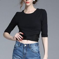 Seagrass - Elbow-Sleeve Cropped T-Shirt