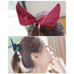 Miss21 Korea - Bow Fabric-Wrapped Hair Clamp