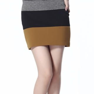 O.SA - Color Block Mini Skirt