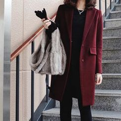 OTTI - Notch Lapel Snap-Button Coat
