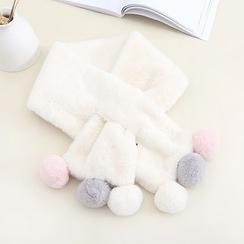 布衣天使 - 球球领孔围巾