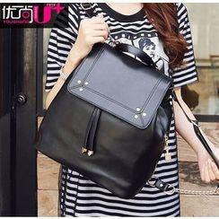 Youshine - Drawstring Flap Backpack